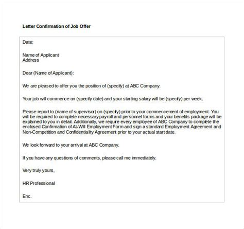 job offer letter templates sles word excel exles offer letter template 70 free word pdf format free