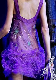 Black Purple and Gold Gown