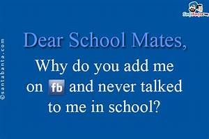 Facebook SMS Pa... School Mates Quotes
