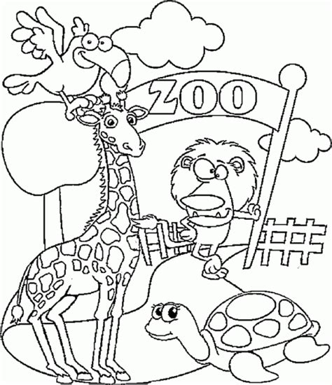 Coloring Zoo Animals by Get This Preschool Zoo Coloring Pages To Print 28184