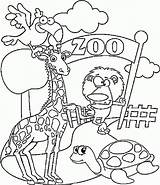 Coloring Zoo Printable Pages Animals Animal Preschool Colouring Kindergarten Coloring4free Ausmalbilder Sheets Tiere Results Related Funny sketch template