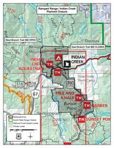 Rampart Range Trail Map