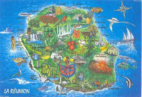 Ile De Tourisme Carte by Info Carte Ile De La Reunion Tourisme