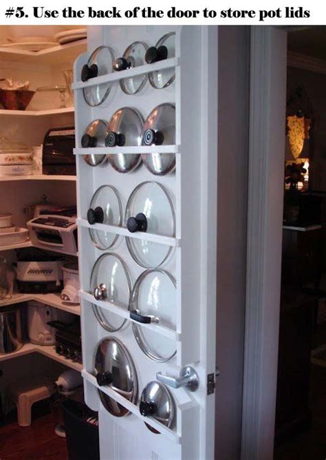 genius ideas  organize  pot lids amazing