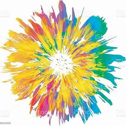Splash Abstract Flower Isolated Paint Painting Valkenoog
