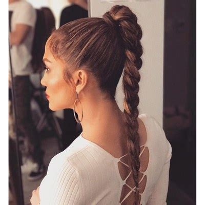 cool ponytail hairstyles     glamour