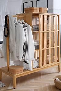 Was Passt Zu Bambus : nordkisa kleiderschrank offen schiebet r bambus ikea ~ Watch28wear.com Haus und Dekorationen
