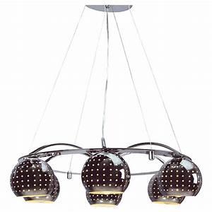 Luminaire Suspension Couleur Chrome 6 Lampes Design KOOTENAY