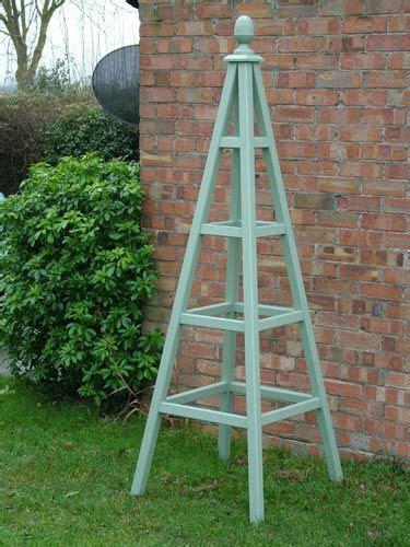 obelisks gardens  garden trellis  pinterest