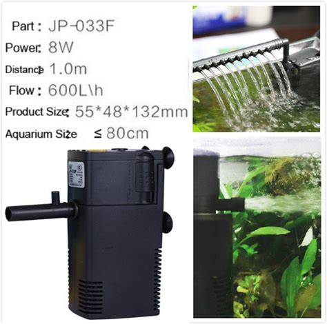 8w ultra aquarium filters 600l h fish tank oxygen air filter 3 in 1 for