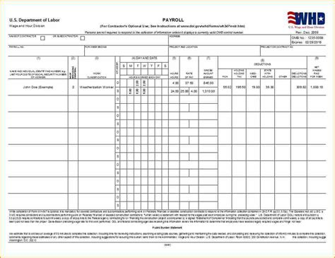 certified payroll template excel secure paystub