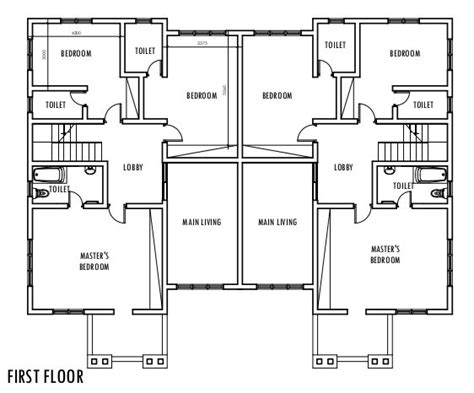 bedroom semi detached duplex  floor plan duplex   duplex floor plans semi