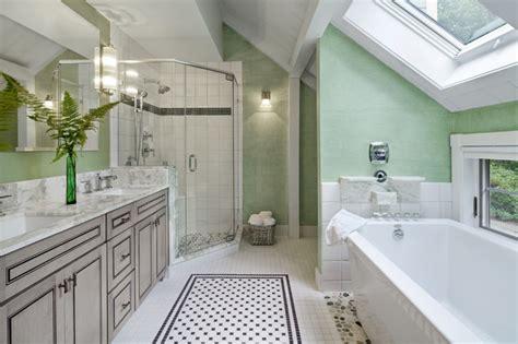 Bathroom Floor Tile Ideas Traditional by The Gathering House Barn Home Traditional Bathroom