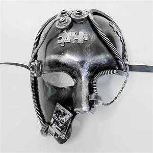 Men's Masquerade Mask Steampunk Half Face Mask