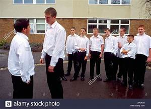 High School School Playground Boy Gang - Bullying Stock ...