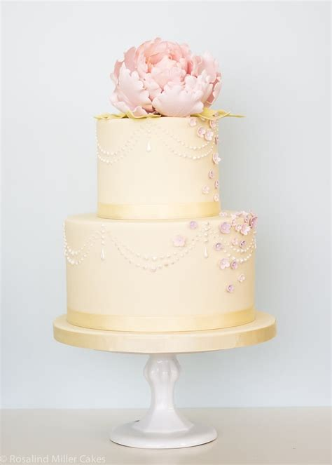 peonies pearls  drapes rosalind miller cakes london uk