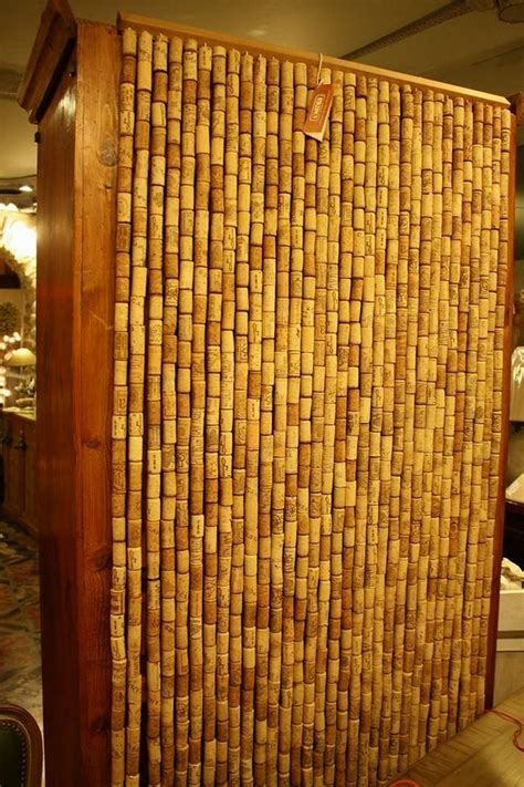 curtains   recycled wine corks recycled crafts