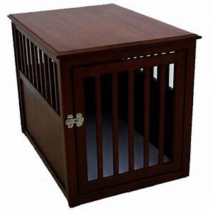 large espresso designer pet crate With trendy dog crates