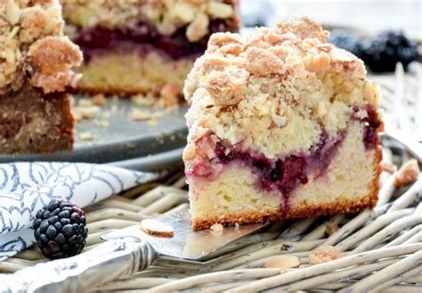 In a small bowl, beat the almond paste, brown sugar and butter until smooth. Blackberry and Almond Coffee Cake   The Floating Kitchen