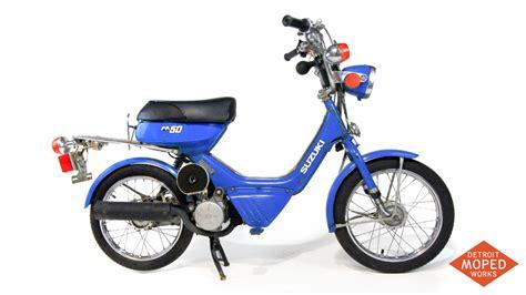 Suzuki Mopeds by 1985 Suzuki Fa50 Shuttle Blue Kickstart Noped Sold