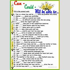 Cancouldwill Be Able To Worksheet  Free Esl Printable Worksheets Made By Teachers