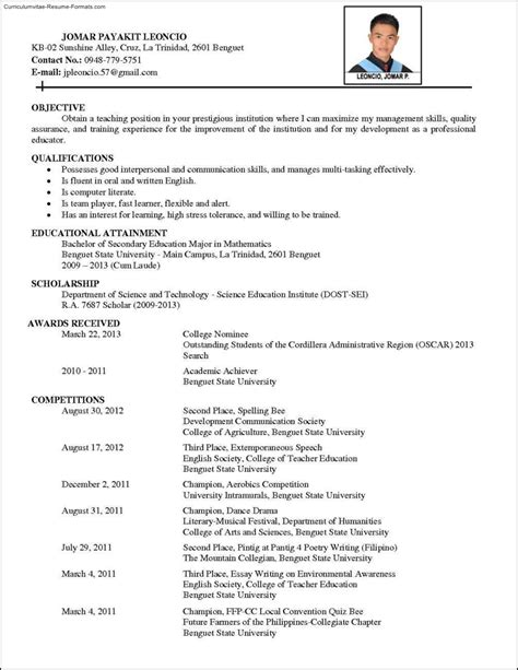 comprehensive resume template free sles exles