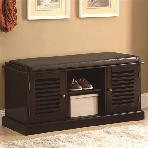 Accent Storage Bench by Benches Accent Bench With Storage Doors Quality
