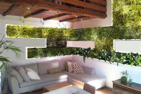 giardino interno casa vivacizzare il soggiorno con un giardino verticale