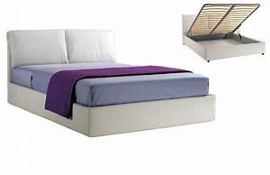 Lit A Coffre : lit coffre teseo haut de gamme avec tete de lit couchage ~ Teatrodelosmanantiales.com Idées de Décoration