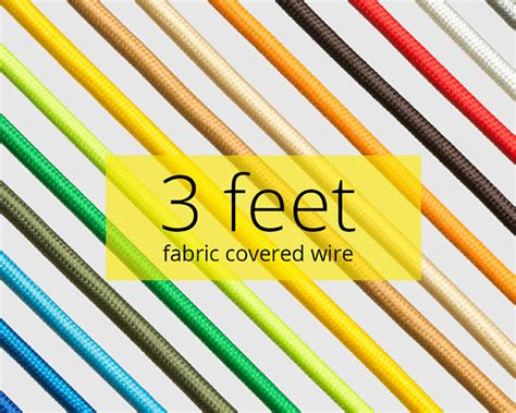 fabric covered l wire fabric covered wire 3 feet diy textile cable color