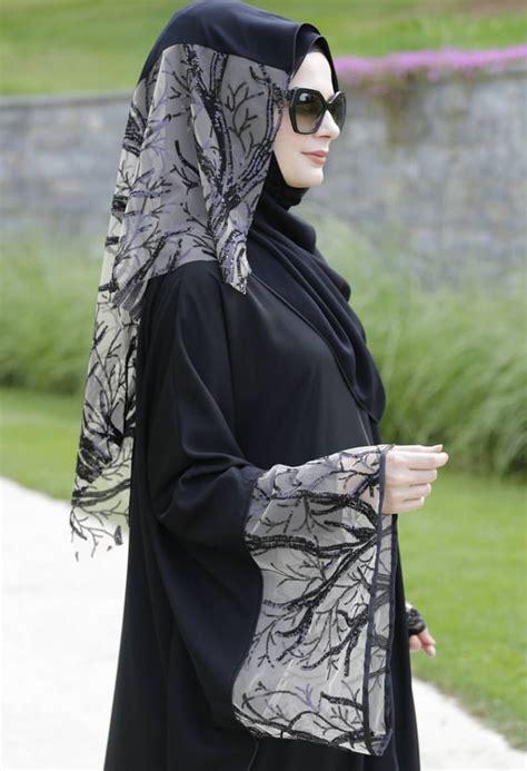 pin  viki  style hijab abaya designs black