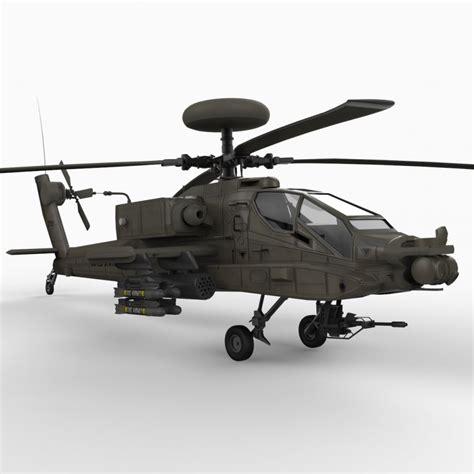 Ah-64 A/d Apache 3d Model