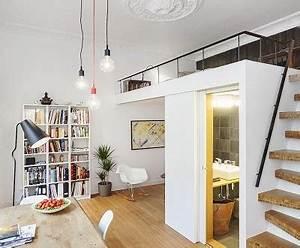 Kleine Wohnung Einrichten Ideen : kleine wohnung einrichten mit hochbett coole ideen zum 1 zimmer wohnung einrichten mit loft bed ~ Sanjose-hotels-ca.com Haus und Dekorationen