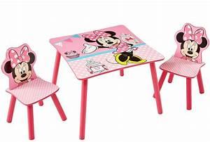 Chaise Et Table Enfant : table et 2 chaises disney minnie ~ Teatrodelosmanantiales.com Idées de Décoration