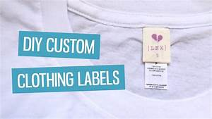 Diy custom clothing labels charlimarietv youtube for How to sew labels on clothes