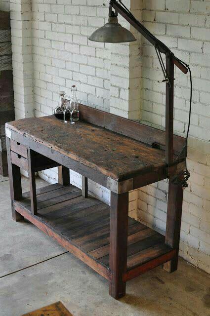 nice  workbench vintage industrial furniture vintage