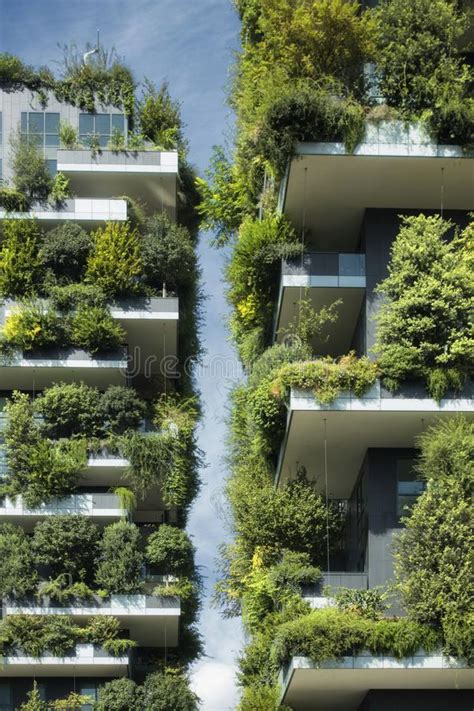 Sustainable Architecture, Green Building With Lot Of