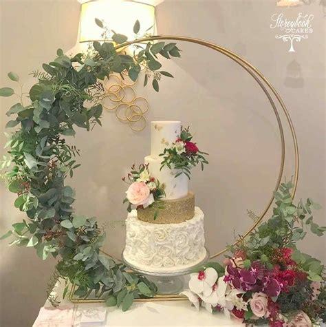 wedding cake hoop wedding cake stand inspiration floral