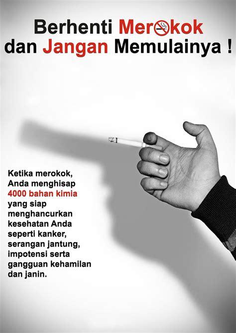 info kesehatan masyarakat poster rokok