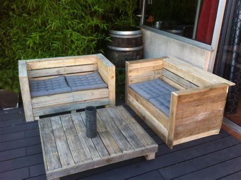 canapé en bois de palette photos canapé en bois de palette