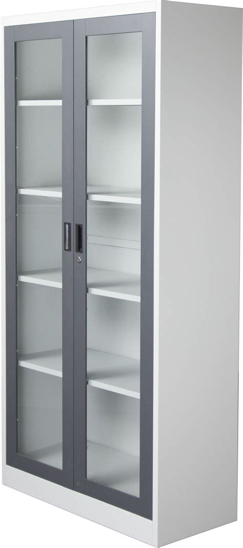 bookcase  glass doors  lock easy home decorating