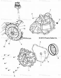 Polaris Atv 2014 Oem Parts Diagram For Engine  Stator