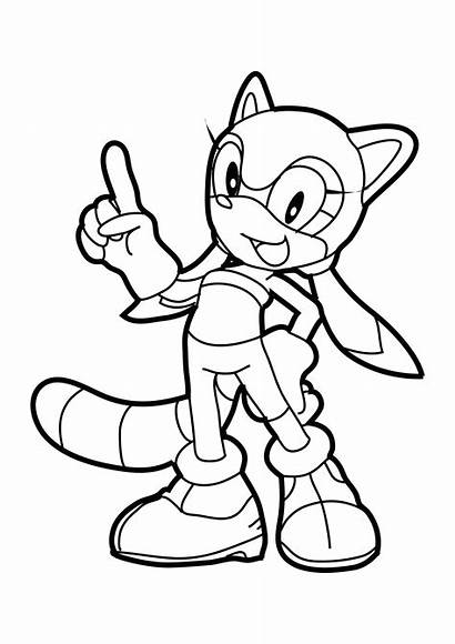Coloring Pages Sonic Running Hedgehog Shadow Printable