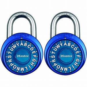 master lock preset 3 digit letter dial combination padlock With lock with letter combination