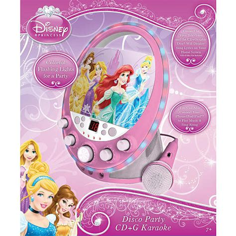 Sakar Disney Princess Party Cd+g Karaoke Machine