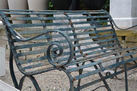 Pair Of Antique English Cast Iron Park Benches Detroit