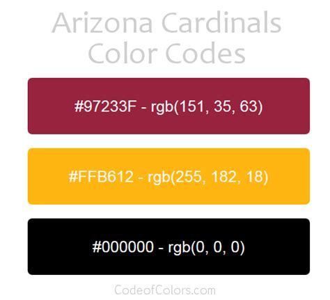 of arizona colors arizona cardinals colors hex and rgb color codes