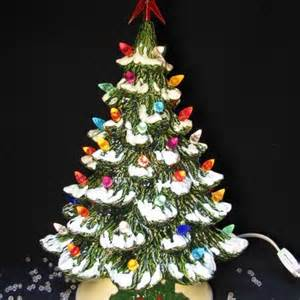 a wish for snow ceramic christmas tree lighted 12 inch tabletop tree
