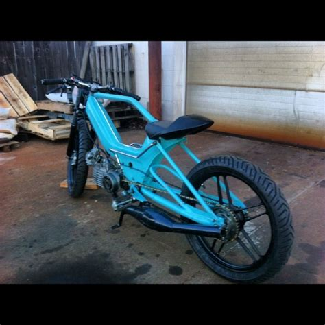 re custom stretched puch maxi pic heavy mopeds custom moped custom bikes and