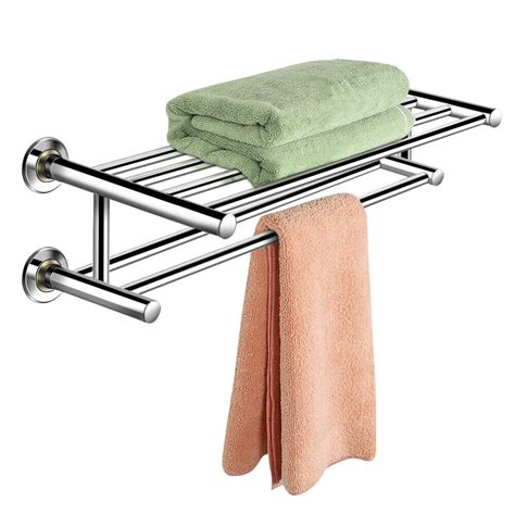 wall mounted towel rack bathroom hotel rail holder storage